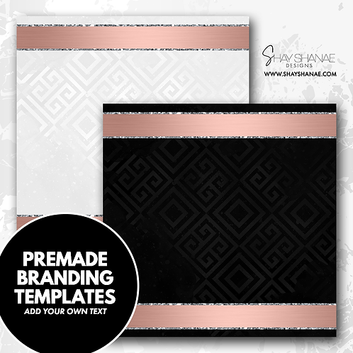 Pre-made Branding Templates [#001] [Instant Download]
