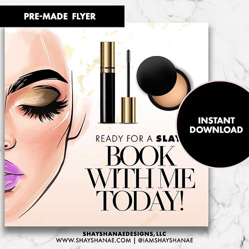 Pre-made Makeup Flyer #149 [Instant Download]