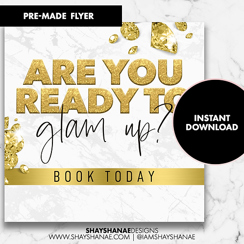 Pre-made Glam Flyer #95 [Instant Download]