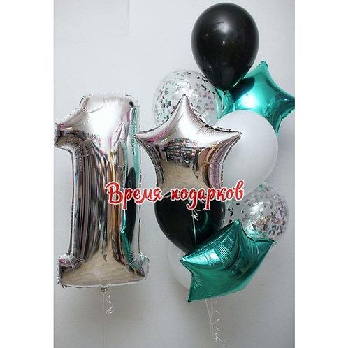 Композиция с гелиевыми шарами №106