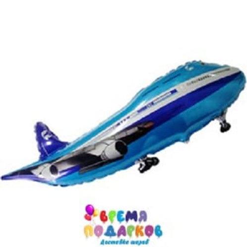 Шар (81 см) Фигура, Самолет, Синий
