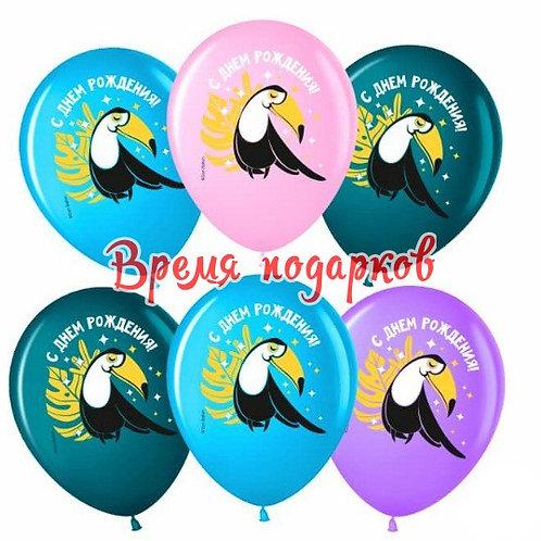 """Гелиевые шары """"С Днем Рождения! (милый тукан)"""""""