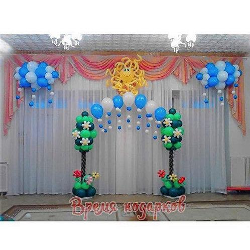 Оформление детских садов шарами №13