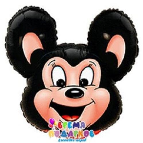 Фольгированный шар (76 см) Фигура, Могучая мышь, Черный