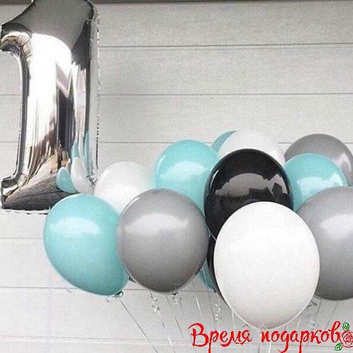 """Композиция из воздушных шаров """"Сдержанная нежность"""""""