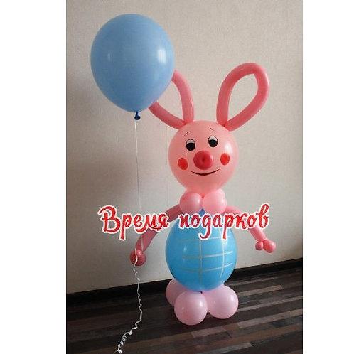 Пятачок свинка с шариком