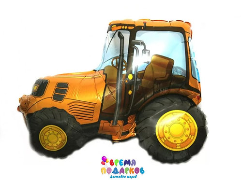 Шар (32''/81 см) Фигура, Трактор оранжевый, 1 шт