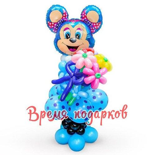 Микки-Маус девочка с цветочком