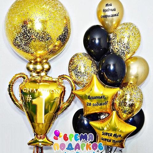 Композиция с гелиевыми шарами №351