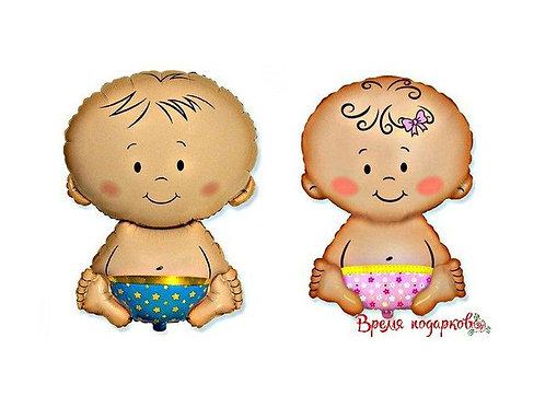 Фигурный шарик из фольги Малышка/Малыш
