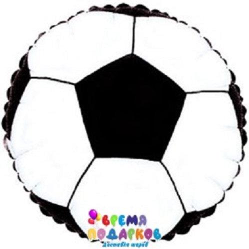 Шар (46 см) Круг, Футбольный мяч, Черный