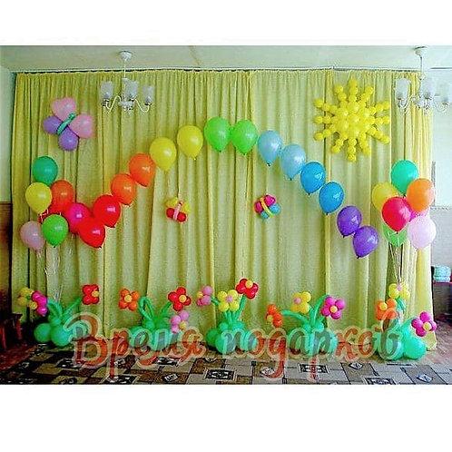 Оформление детских садов шарами №15
