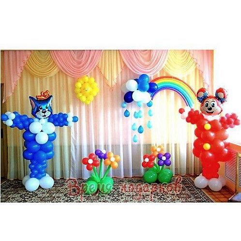 Оформление детских садов шарами №21
