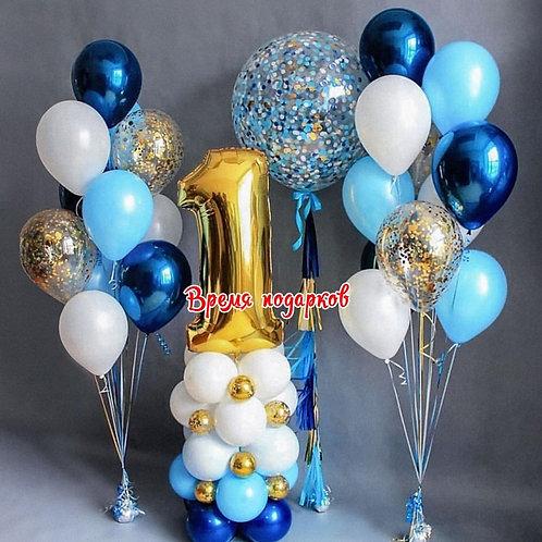 Композиция с гелиевыми шарами №265