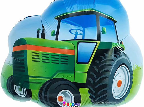 Шар (26''/66 см) Фигура, Трактор, Зеленый
