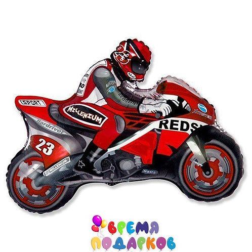 Шар (31''/79 см) Фигура, Мотоцикл, Красный, 1 шт.