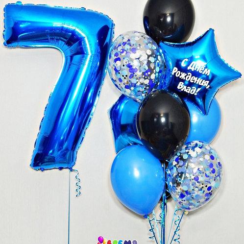 Композиция с гелиевыми шарами №271