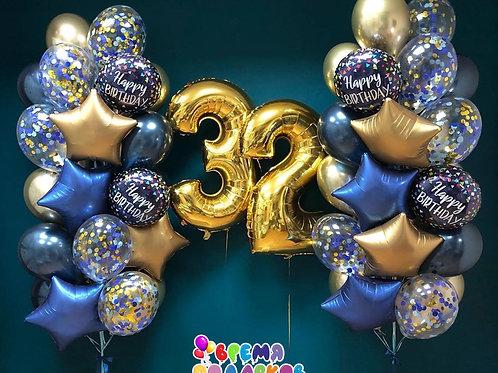 Композиция с гелиевыми шарами №273