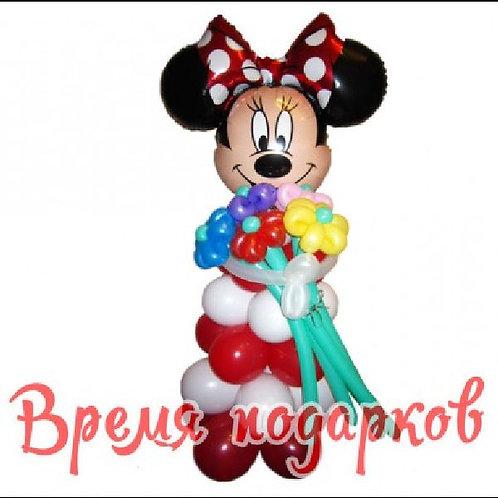 Микки-Маус девочка с цветочками