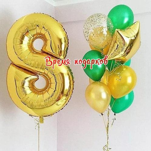 Композиция с гелиевыми шарами №250