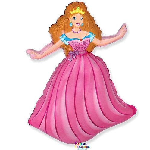 Шар (99 см)Принцесса (Розовая,голубая и синяя)