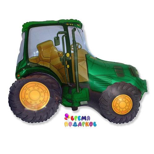 Шар (37''/94 см) Фигура, Трактор, Зеленый, 1 шт.
