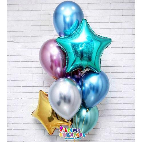 Композиция с гелиевыми шарами №332