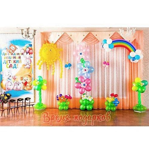 Оформление детских садов шарами №17