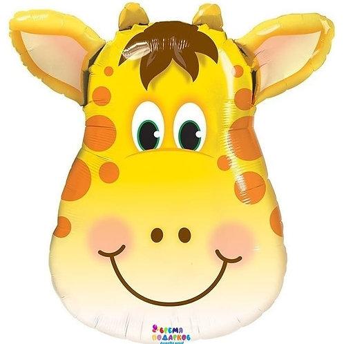 Шар (86 см) Фигура, Большая голова, Милый Жираф