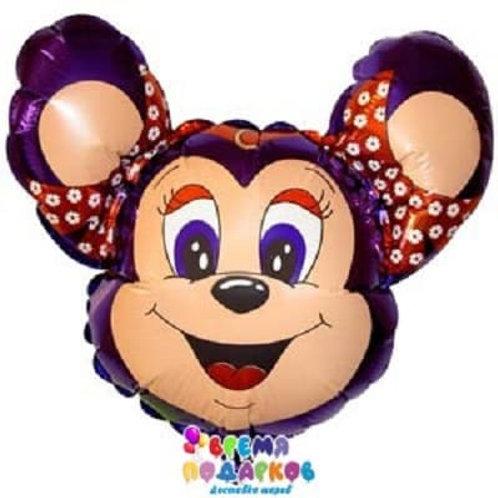 Фольгированный шар (76 см) Фигура, Могучая мышь, фиолетовый