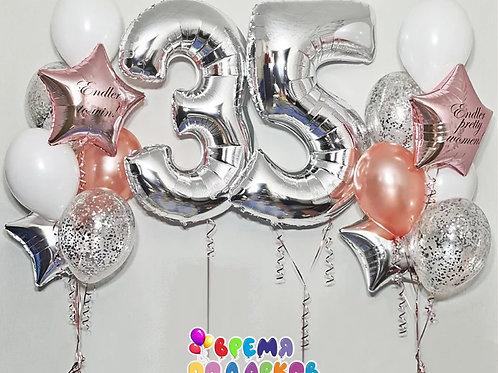 Композиция с гелиевыми шарами №363