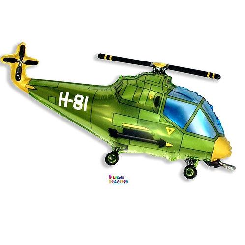 Шар (97 см) Фигура, Вертолет, Зеленый