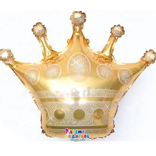 Шар (86 см) Фигура, Корона, Золото