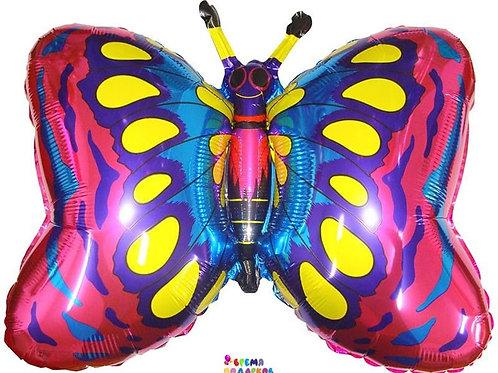 Фольгированный шар (89 см) Фигура, Бабочка, Фуше