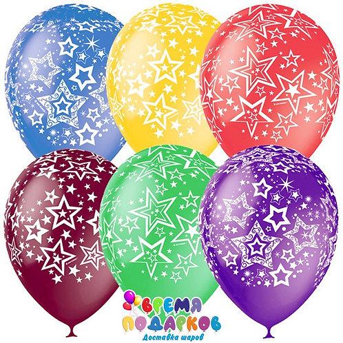 Гелиевые шары «Звёзды», декоратор, 5-сторонний
