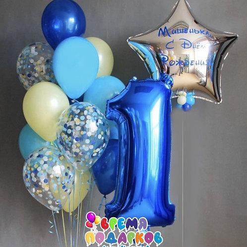 Композиция с гелиевыми шарами №274