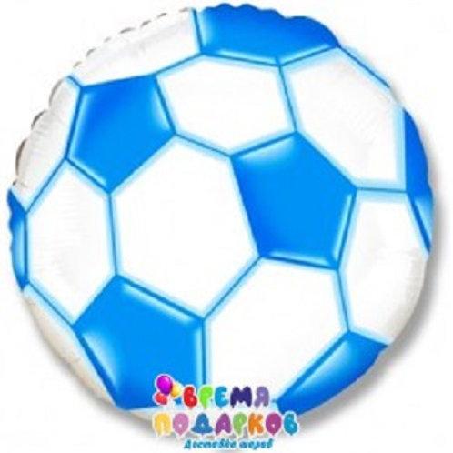 Шар (46 см) Круг, Футбольный мяч, Синий