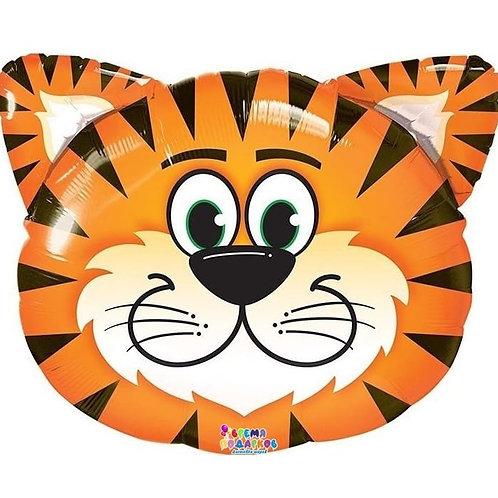 Шар (74 см) Фигура, Голова, Тигр