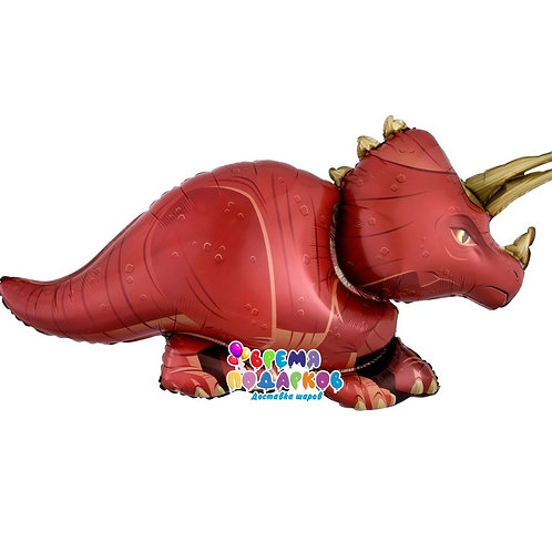 Шар (36''/91 см) Фигура, Динозавр Трицератопс