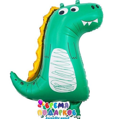 Шар (86 см) Фигура, Динозаврик, Зеленый