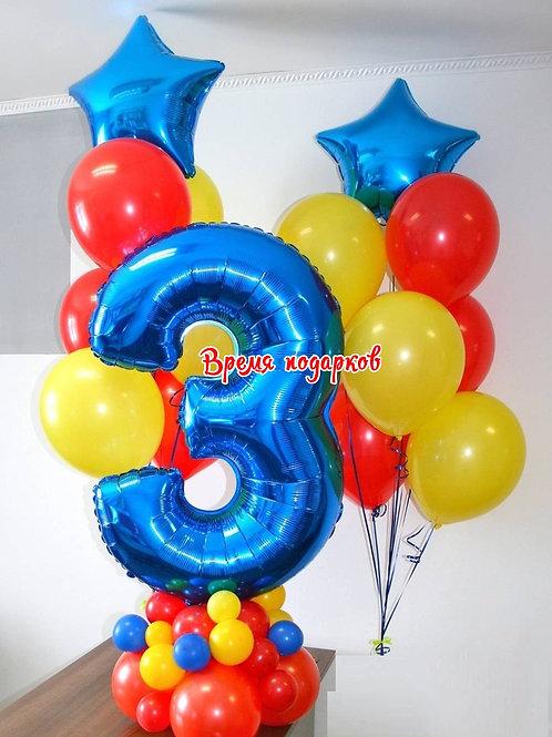Композиция с гелиевыми шарами №151
