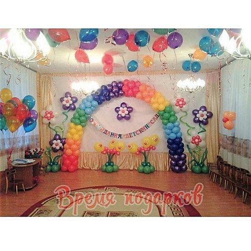 Оформление детских садов шарами №28