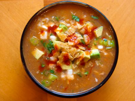 Lime Enchilada Tortilla Soup