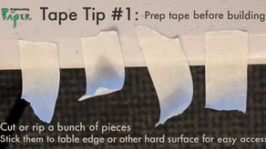 Tape. Here's how to use it better: #1