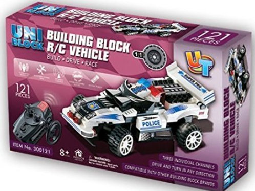 Remote Controlled RC Building Block Police Car