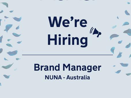 Job Opening - Australian Brand Manager (based in Taipei)