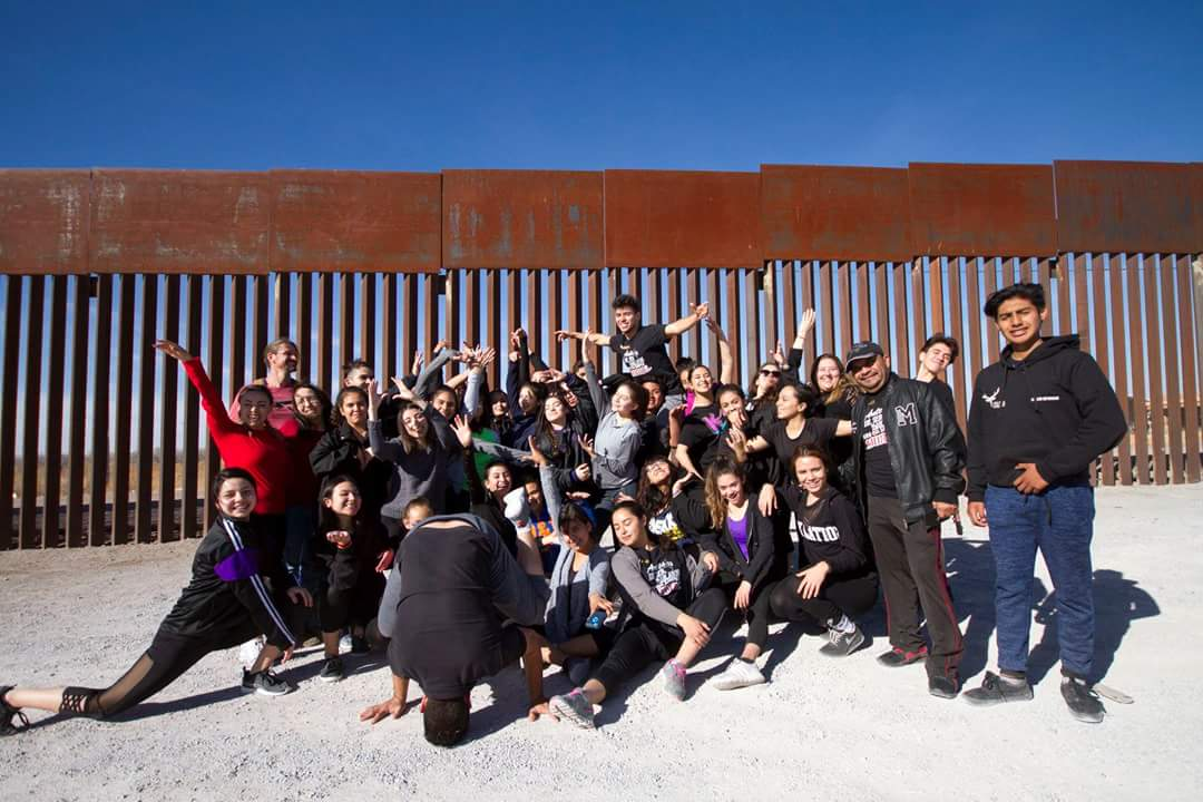 Rehearsal at the border