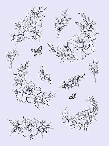 Peony Flash Blossoms Butterfly Foliage Florals