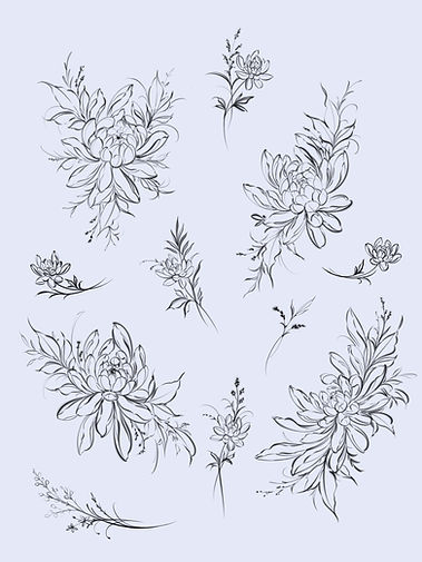 Chrysanthemum Flash Tattoo Florals