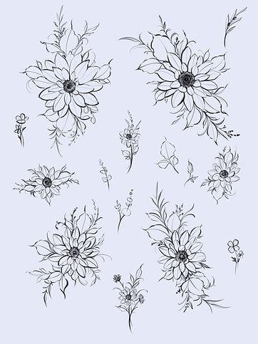 Sunflower Flash Tattoo